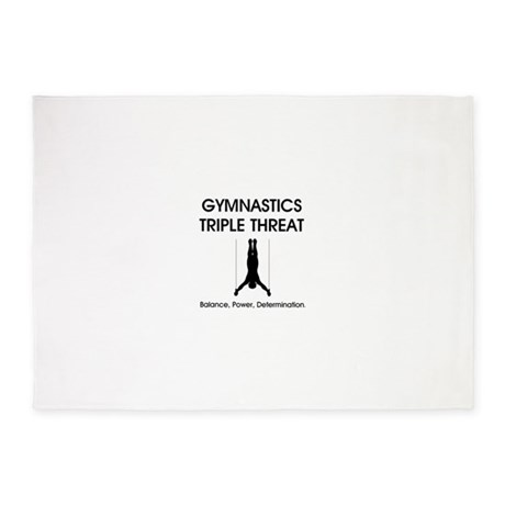 Gymnastics Teepossible.com 5'x7'Area Rug