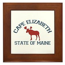 Cape Elizabeth ME - Moose Design. Framed Tile