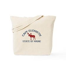Cape Elizabeth ME - Moose Design. Tote Bag
