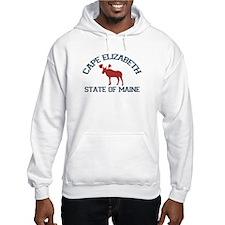 Cape Elizabeth ME - Moose Design. Hoodie Sweatshirt