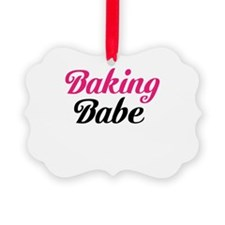 Baking Babe Ornament
