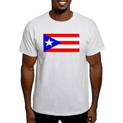 Puerto Rico Blank Flag Ash Grey T-Shirt
