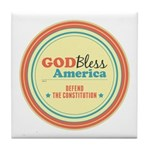 Defend The Constitution Tile Coaster