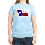Texas Flag Women's Pink T-Shirt
