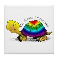 Gay Pride Turtle Ceramic Tile