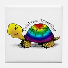 Gay Pride Turtle Ceramic Tile