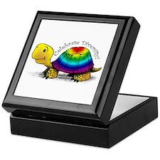 Gay Pride Turtle Tile Top Box