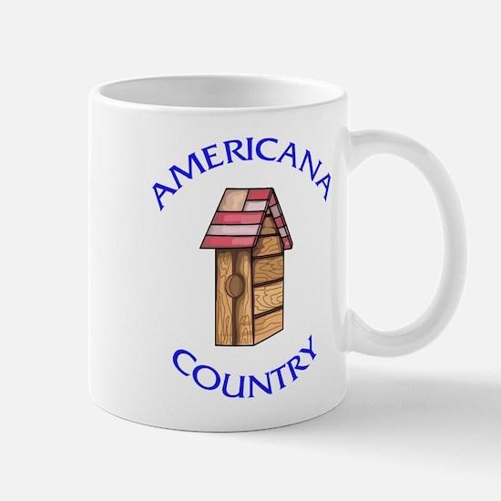 Americana Country Birdhouse Mug