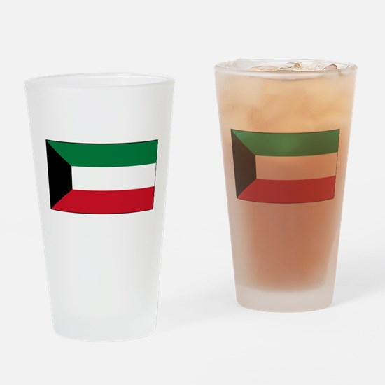 Kuwait - National Flag - Current Drinking Glass