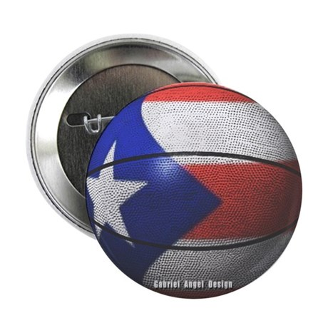 """Puerto Rican Basketball 2.25"""" Button (10 pack)"""