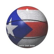 Puerto Rican Basketball Ornament (Round)