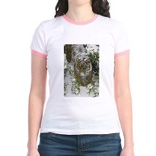 Tiger In The Snow Jr. Ringer T-Shirt