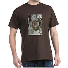 Tiger In The Snow Dark T-Shirt