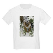 Tiger In The Snow Kids Light T-Shirt