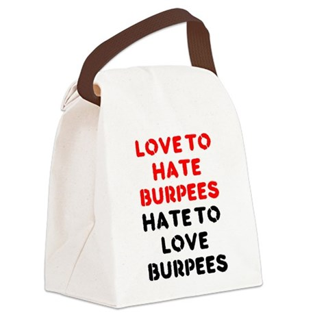 Love to Hate Em Canvas Lunch Bag