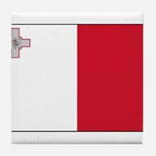 Malta - National Flag - Current Tile Coaster
