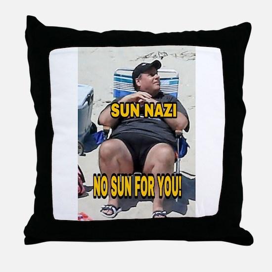 Sun Nazi no sun for you Throw Pillow