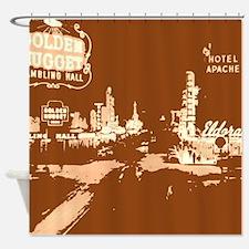 Downtown Las Vegas Pop Art Shower Curtain