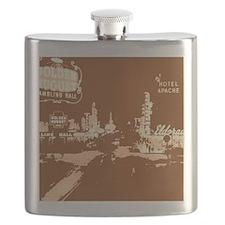 Downtown Las Vegas Pop Art Flask