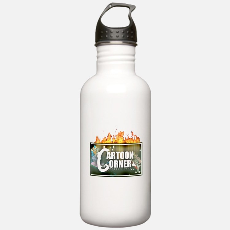 Cartoon Corner Logo Water Bottle