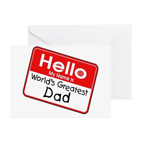 Worlds Greatest Dad Greeting Cards (Pk of 10)