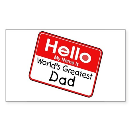 Worlds Greatest Dad Rectangle Sticker