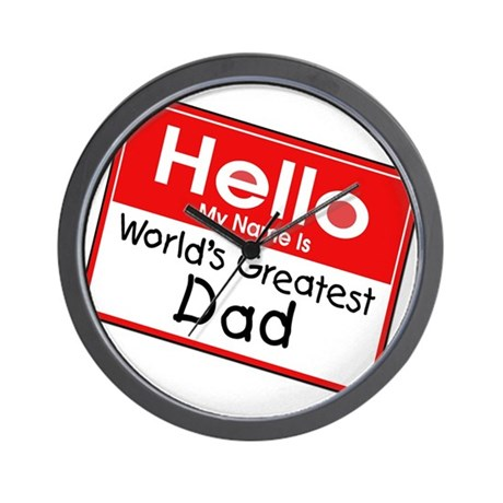 Worlds Greatest Dad Wall Clock