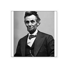 """Abraham Lincoln Square Sticker 3"""" x 3"""""""