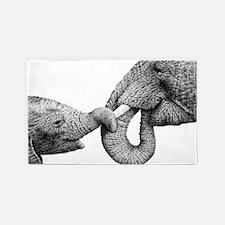 African Elephants 3'x5' Area Rug