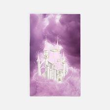 Pink Fairytale Castle 3'x5' Area Rug