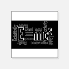 Science Mass Equivalence E=mc2 Einstein Design Squ