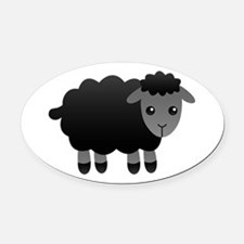 black sheep Oval Car Magnet