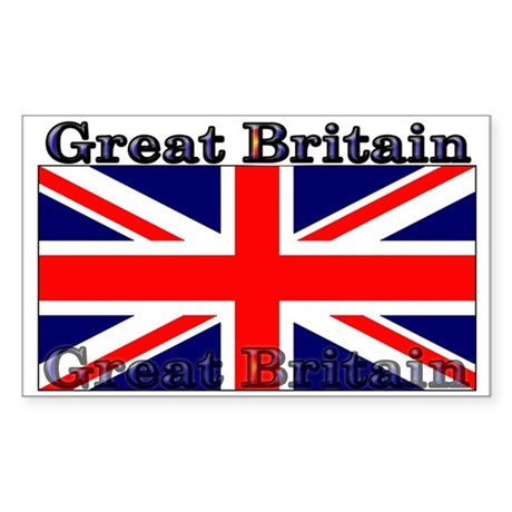 Great Britain British Flag Rectangle Sticker