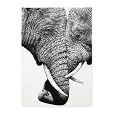 Elephants Trunks Entwined 5'x7'Area Rug