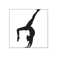 "Gymnastics Kickover Square Sticker 3"" x 3"""