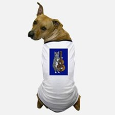Cat and Cello on Blue Dog T-Shirt