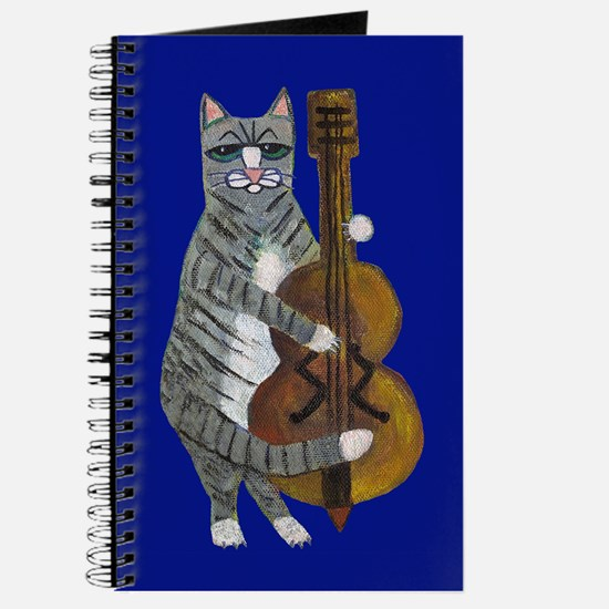 Cat and Cello on Blue Journal