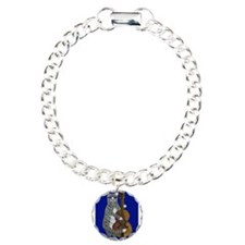 Cat and Cello on Blue Bracelet