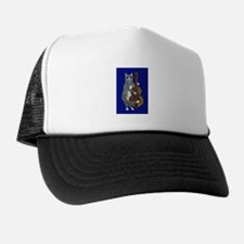 Cat and Cello on Blue Trucker Hat