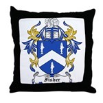 Fisher Coat of Arms Throw Pillow