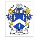 Fisher Coat of Arms Small Poster