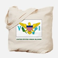 The United States Virgin Islands Flag Stuff Tote B