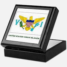 The United States Virgin Islands Flag Stuff Tile B