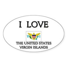 I Love The United States Virgin Islands Decal