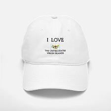 I Love The United States Virgin Islands Baseball Baseball Cap