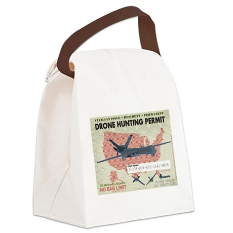 Drone Hunting Permit Canvas Lunch Bag