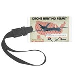 Drone Hunting Permit Large Luggage Tag