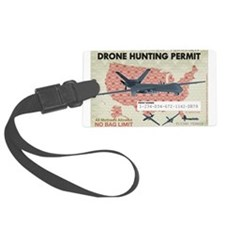 Drone Hunting Permit Luggage Tag