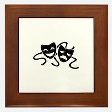 theatre masks Framed Tile