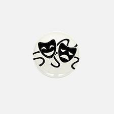 theatre masks Mini Button (10 pack)